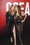 Gigi Hadid (left) and Lily Aldridge arrive at the World Premiere of Ocean's 8 at Alice Tully Hall in New York City, on June 5, 2018.