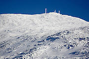 Mount Washington from Ammonoosuc Ravine Trail in the White Mountains, New Hampshire USA during the winter months.