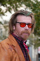 November 13 2017, PARIS FRANCE<br /> the President of France Emmanuel Macron<br /> honors the victims of the 13 november 2015<br /> in the scenes of attacks. Jesse Hughes is waiting for an interview. # HOMMAGE AUX VICTIMES DES ATTENTATS DU 13 NOVEMBRE 2015
