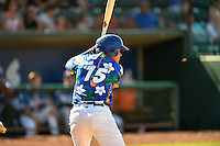 Luis Paz (15) of the Ogden Raptors at bat against the Helena Brewers in Pioneer League action at Lindquist Field on July 16, 2016 in Ogden, Utah. Ogden defeated Helena 5-4. (Stephen Smith/Four Seam Images)