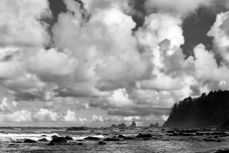 Clouds at Rialto Beach. Olympic National Park, Washington