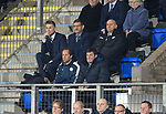 St Johnstone v Ross County…24.10.17…  McDiarmid Park…  SPFL<br />Saints manager Tommy Wright sat in the stands<br />Picture by Graeme Hart. <br />Copyright Perthshire Picture Agency<br />Tel: 01738 623350  Mobile: 07990 594431