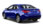 Car pictures of rear three quarter view of 2018 Toyota Corolla XSE-AT 4 Door Sedan Angular Rear