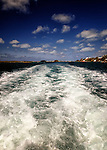 Wake of the ferry in Hamilton, Bermuda
