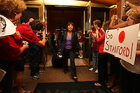 8 April 2008: Stanford Cardinal athletic trainer Marcella Shorty during Stanford's send off party before their 64-48 loss against the Tennessee Lady Volunteers in the 2008 NCAA Division I Women's Basketball Final Four championship game at the St. Pete Times Forum Arena in Tampa Bay, FL.