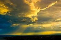Sunrise and rain showers The South Kohala coast The Big Island of Hawaii