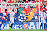 Goalkeeper Sergio Rico of Sevilla FC fails to save a shot during their La Liga match between Atletico de Madrid and Sevilla FC at the Estadio Vicente Calderon on 19 March 2017 in Madrid, Spain. Photo by Diego Gonzalez Souto / Power Sport Images