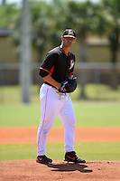 Miami Marlins pitcher Ben Holmes (47) during a minor league spring training game against the St. Louis Cardinals on March 31, 2015 at the Roger Dean Complex in Jupiter, Florida.  (Mike Janes/Four Seam Images)