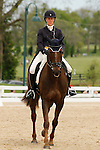 LEXINGTON, KY - APRIL 29: #90 Arthur and rider Allison Springer in the warm up ring before their Dressage test in the Rolex Three Day Event, Dressage Day 1, at the Kentucky Horse Park in Lexington, KY, where they finished 2nd overall in Dressage.  April 29, 2016 in Lexington, Kentucky. (Photo by Candice Chavez/Eclipse Sportswire/Getty Images)