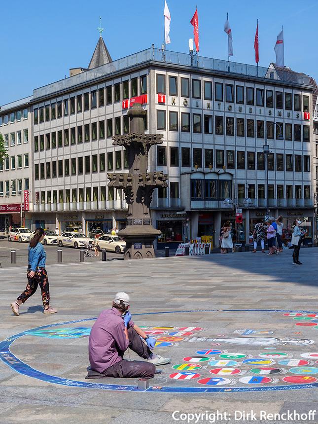 Straßenmaler, Köln, Nordrhein-Westfalen, Deutschland, Europa<br /> sreet artist, Cologne, North Rhine-Westphalian, Germany, Europe
