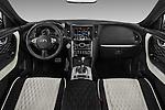 Stock photo of straight dashboard view of 2017 Infiniti QX70 3.7 5 Door SUV Dashboard