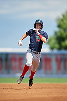 Lowell Spinners second baseman Grant Williams (11) runs the bases during a game against the Staten Island Yankees on August 22, 2018 at Richmond County Bank Ballpark in Staten Island, New York.  Staten Island defeated Lowell 10-4.  (Mike Janes/Four Seam Images)
