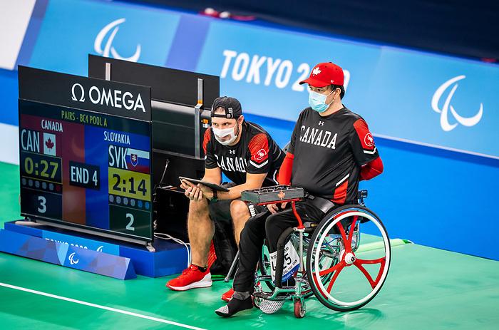 Marco Dispaltro, Tokyo 2020 - Boccia.<br /> Canada competes against Slovakia in pairs BC4 boccia // Le Canada affronte la Slovaquie en paires de boccia BC4. 09/03/2021.