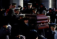 Official funeral of former Canada Governor-General Jeanne Sauve are beeing held at Marie-Reine-du-Monde Cathedral in Montreal, few days after her death (January 26, 1993).<br /> <br /> File Photo : Agence Quebec Presse - Pierre Roussel