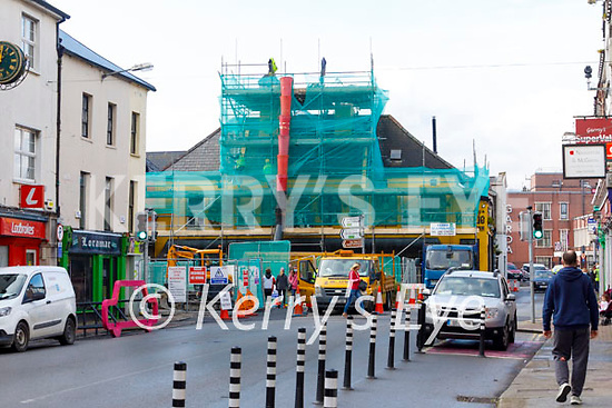 Construction and renovation on the Brogue Inn on Tuesday.