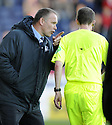18/10/2008  Copyright Pic: James Stewart.File Name : sct_jspa20_falkirk_v_aberdeen.FALKIRK MANAGER JOHN HUGHES HAS A WORD WITH REFEREE WILLIAM COLLUM.James Stewart Photo Agency 19 Carronlea Drive, Falkirk. FK2 8DN      Vat Reg No. 607 6932 25.Studio      : +44 (0)1324 611191 .Mobile      : +44 (0)7721 416997.E-mail  :  jim@jspa.co.uk.If you require further information then contact Jim Stewart on any of the numbers above........