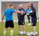 Mark Warburton and David Weir with Martyn Waghorn