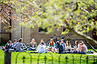 April 26, 2018; Class outside on a spring day (Photo by Matt Cashore/University of Notre Dame)