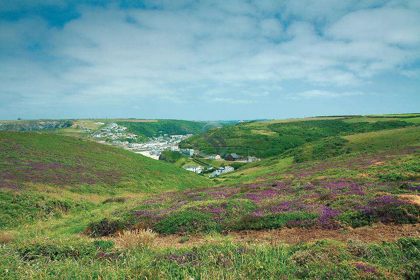 Portreath from Western Hill, Cornwall