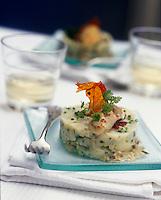 """Europe/France/Poitou-Charentes/17/Charente-Maritime/La Rochelle : Brandade d'huîtres spéciales - Recette de Christopher Coutanceau chef du restaurant """"Au Vieux Port"""""""
