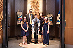 Jonathan<br /> Bar Mitzvah Portraits <br /> In the sanctuary with his family<br /> Westchester, New York