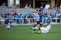 SAN JOSE, CA - AUGUST 8: Cristian Espinoza #10 during a game between Los Angeles FC and San Jose Earthquakes at PayPal Stadium on August 8, 2021 in San Jose, California.
