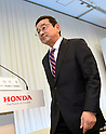 Honda's new president holds first press conference in Tokyo