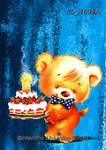Interlitho-Fabrizio, Comics, CUTE ANIMALS, LUSTIGE TIERE, ANIMALITOS DIVERTIDOS, paintings+++++, bear,party,cakeKL4605A,#ac#, EVERYDAY