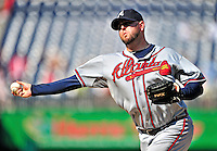 25 September 2010: Atlanta Braves pitcher Peter Moylan in action against the Washington Nationals at Nationals Park in Washington, DC. The Braves shut out the Nationals 5-0 to even their 3-game series at one win apiece. The Braves' victory was the 2500th career win for skipper Bobby Cox. Cox will retire at the end of the 2010 season, crowning a 29-year managerial career. Mandatory Credit: Ed Wolfstein Photo