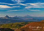 Mt. Washington, Three Fingered Jack, Mt. Jefferson, Mt. Hood, Volcano Row, Three Sisters Wilderness, Willamette-Deschutes National Forest, Oregon