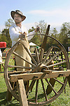 Heritage Days Festival. Union County. Wheelwright.