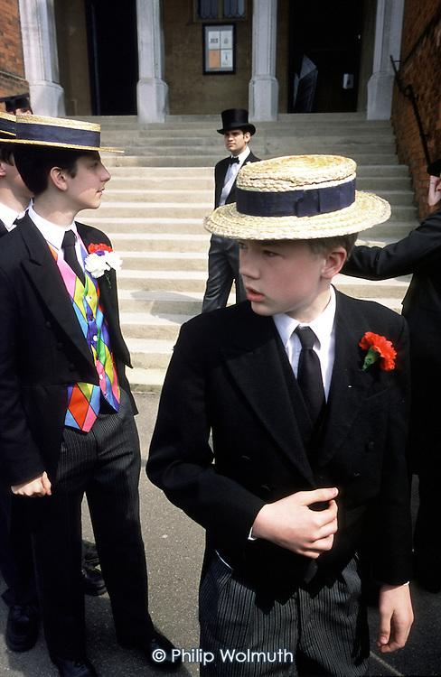 """The Annual Speech Day """"School Bill"""" parade at Harrow School"""