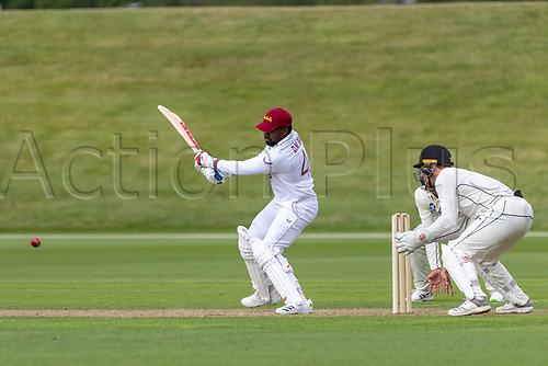 20th November 2020; John Davies Oval, Queenstown, Otago, South Island of New Zealand. West Indies Darren Bravo hits out during New Zealand A versus  West Indies