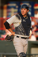 Trenton Thunder Catcher Austin Romine (12) during a game vs. the Erie Seawolves at Jerry Uht Park in Erie, Pennsylvania;  June 23, 2010.   Trenton defeated Erie 12-7  Photo By Mike Janes/Four Seam Images