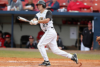 Iowa Hawkeyes outfielder Dan Sheppard #23 during a game against the Illinois State Redbirds at Chain of Lakes Stadium on March 11, 2012 in Winter Haven, Florida.  Illinois State defeated Iowa 10-6.  (Mike Janes/Four Seam Images)