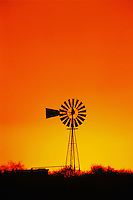 Windmill at sunset,Sinton,Texas, USA
