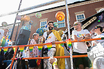 © Joel Goodman - 07973 332324 - all rights reserved . 24/08/2019. Manchester, UK. Coronation Street float . The 2019 Manchester Gay Pride parade through the city centre , with a Space and Science Fiction theme . Manchester's Gay Pride festival , which is the largest of its type in Europe , celebrates LGBTQ+ life . Photo credit: Joel Goodman/LNP