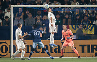CARSON, CA - MARCH 07: Chicharito #14 of the Los Angeles Galaxy during a game between Vancouver Whitecaps and Los Angeles Galaxy at Dignity Health Sports Park on March 07, 2020 in Carson, California.