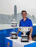 The magnificent Australian Open Trophies visiting Hong Kong for the first time to officially launch the Australian Open Hong Kong office. Photo by Victor Fraile/ The Power of Sport Images