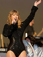 Pictured: Taylor Swift. Sunday 27 May 2018<br /> Re: BBC Radio 1 Biggest Weekend at Singleton Park in Swansea, Wales, UK.