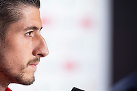 Sevilla Sergio Escudero during press conference the day before King's Cup Finals match between Sevilla FC and FC Barcelona at Wanda Metropolitano in Madrid, Spain. April 20, 2018. (ALTERPHOTOS/Borja B.Hojas) /NortePhoto.com