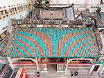 The Man Mo Temple roof from a drone.