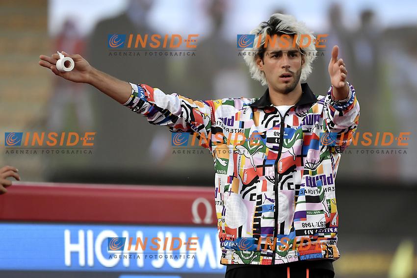 Gianmarco Tamberi of Italy prepares to compete in the High Jump men during the Wanda  Diamond League Golden Gala meeting at the Luigi Ridolfi stadium in Florence, Italy, June 10th, 2021. Photo Andrea Staccioli / Insidefoto