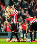 Ander Iturraspe Derteano of Athletic Club carries stuffed toys for the fans after their Copa del Rey Round of 16 first leg match between Athletic Club and FC Barcelona at San Mames Stadium on 05 January 2017 in Bilbao, Spain. Photo by Victor Fraile / Power Sport Images