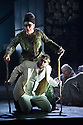 London, UK. 30.04.2014. English National Opera gives the world premiere of British composer Julian Anderson's first opera, THEBANS. Picture shows: Matthew Best (Tiresias) and Roland Wood (Oedipus). Photograph © Jane Hobson.