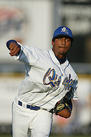 July 3, 2003: Ervin Santana of the Rancho Cucamonga Quakes in action at The Epicenter in Rancho Cucamonga,CA.  Photo by Larry Goren/Four Seam Images
