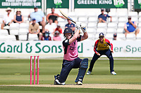 Sam Robson hits 4 runs for  Middlesex during Essex Eagles vs Middlesex, Vitality Blast T20 Cricket at The Cloudfm County Ground on 18th July 2021