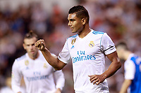 Real Madrid's Carlos Enrique Casemiro celebrates goal during La Liga match. August 20,2017.  *** Local Caption *** © pixathlon +++ tel. +49 - (040) - 22 63 02 60 - mail: info@pixathlon.de