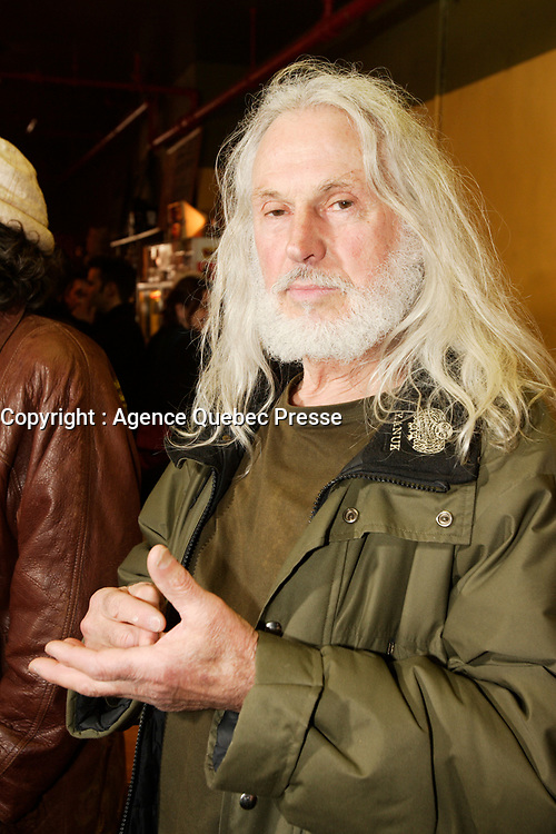 Sculptor Armand Vaillancourt<br />  at  the Launch of  Marie Marine album. April 25 2006 at Divan Orange in Montreal.<br /> <br /> Marie Marine is the daughter of French Canadian singer Raymond Levesque.<br /> <br /> PHOTO : Agence Quebec Presse