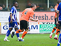 :: DUNDEE UTD'S SCOTT SEVERIN CELEBRATES AFTER HE SCORES UNITED'S FIRST :: .23/04/2011   Copyright  Pic : James Stewart.sct_jsp016_dundee_utd_v_kilmarnock .James Stewart Photography 19 Carronlea Drive, Falkirk. FK2 8DN      Vat Reg No. 607 6932 25.Telephone      : +44 (0)1324 570291 .Mobile              : +44 (0)7721 416997.E-mail  :  jim@jspa.co.uk.If you require further information then contact Jim Stewart on any of the numbers above.........